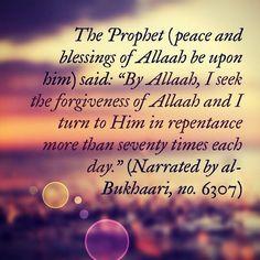 Seek forgiveness from Allah
