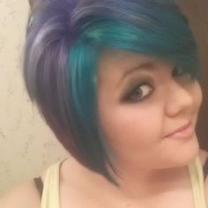 Manic Panic Colorful Hair. Atomic Teal, Voodoo Blue, and UltraViolet. #colorfulhair
