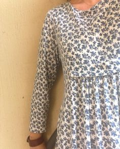 This dress is an oldie - sewn last century  I made it when I was living in an isolated town in northern WA. Long sleeves in 40 degree heat - not sure what I was thinking then. Every time I wear this dress I do think I should find the pattern and make an updated version - it's super simple but has some lovely features. That's #memademay for today.  #memademay16 #memademay2016 #handmade #mindfulcrafting #wearit #sewing #