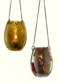 Antiqued Glass Hanging Votives | Jamali Floral & Garden Supplies $15.96 set of 4