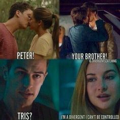 Shailene Woodley in the fault in our stars, divergent, and the spectacular now… Divergent Memes, Divergent Hunger Games, Divergent Fandom, Divergent Trilogy, Divergent Insurgent Allegiant, Tfios, Insurgent Quotes, Peter From Divergent, Divergent Party