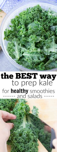 The BEST way for how to wash and store kale, so that it stays fresh and ready for quick smoothies and salads! Simple tips to make prepping kale as easy as can be! Using this easy method, your greens will stay fresh for up to two weeks! kristineskitchenblog.com