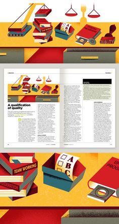 Economia Magazine by Aron Vellekoop León, via Behance