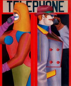 "Richard Lindner - ""Telephone 1966 """
