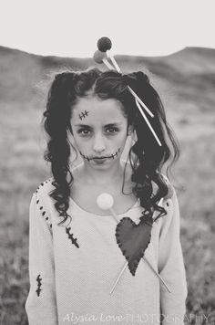 Voodoo Doll Costume. Handmade Tween Voodoo Doll Costume. Hallloween