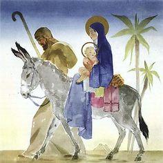 LA SAGRADA FAMILIA , EN SU HUÍDA A EGIPTO Jean Adrien mercier