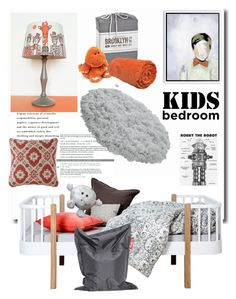 """Boy in Orange Bow'"" by dianefantasy ❤ liked on Polyvore featuring interior, interiors, interior design, home, home decor, interior decorating, Fatboy, bedroom, polyvoreeditorial and KidsBedroom"
