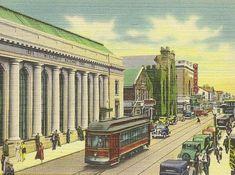 Purchase Street NEW BEDFORD Mass Unused Vintage by TheOldBarnDoor
