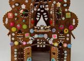 Unusual gingerbread house via...