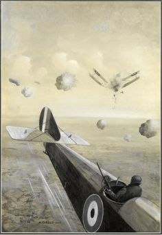 #Geoffrey #Watson A Direct Hit, 1918  #Monochrome #watercolour with #gouache #painting #art #war #plane #WWI #Britishart #modern #LLFA Sussex Gardens, British Schools, World 7, Royal College Of Art, A0 Poster, The Guardian, Gloss Matte, Wonderful Images, Poster Size Prints