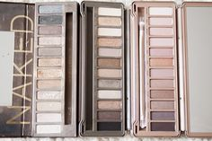 Urban Decay's Naked 1, Naked 2, and Naked 3 eyeshadow palettes