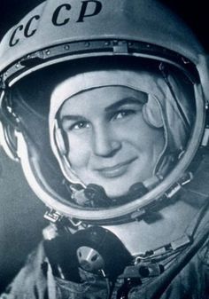 Valentina Tereshkova - the first woman in space. The Soviet cosmonaut made her first flight in 1963 at the age of 26.