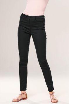 Black Ripped Denim Leggings Denim Leggings, Black Leggings, Ripped Denim, Black Denim, Clothes For Women, Sweaters, Pants, Stuff To Buy, Figurine