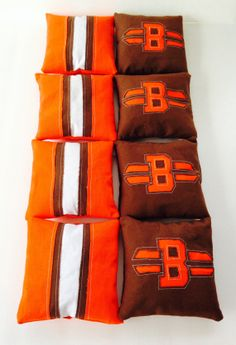 Custom Handmade Cleveland Browns Cornhole Bags by GettinCrafty715, $45.00