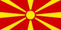 Bandera de la Antigua República Yugoslava de Macedonia.
