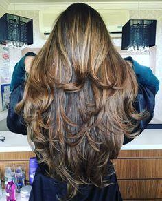 Hair Long Layers Perms New Ideas Long Layered Haircuts, Haircuts For Long Hair, Permed Hairstyles, Long Hair Cuts, Pretty Hairstyles, Beautiful Long Hair, Gorgeous Hair, Big Hair, Wavy Hair