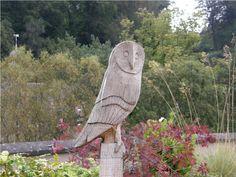 Owl Wooden Sculpture Garden