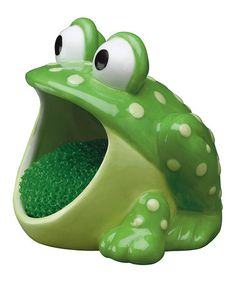 Take a look at this Frog Scrubby Holder Set by Barnyard Kitchen by Boston Warehouse on #zulily today!