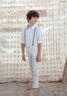 Pantalon blanc Enfant et Bébé pour Baptême et Cérémonie