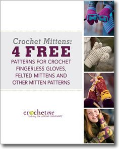 Download your free crochet mitten patterns eBook!