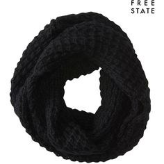 Aeropostale Free State Infinity Scarf ($3.99) ❤ liked on Polyvore featuring accessories, scarves, black, circle scarves, acrylic scarves, round scarves, tube scarves and circle scarf