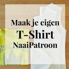 Teken zelf een T-Shirt NaaiPatroon – Sew Natural Workshops Diy Clothing, Sewing Clothes, Clothing Patterns, Sewing Patterns, Sewing Hacks, Sewing Tutorials, Sewing Projects, Sewing Tips, Patron T Shirt