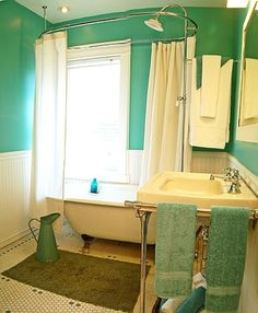 this is about the size and future configuration for my bathroom nice to see it clawfoot tub bathroombathtubturquoise. beautiful ideas. Home Design Ideas