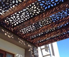 patio deck shade pergola cover decorative panels