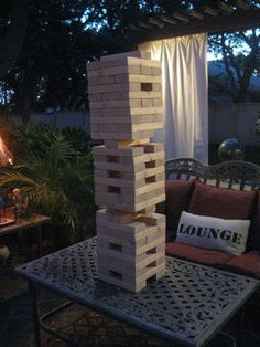 Giant Yard Jenga Game! :: Hometalk