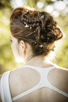 #hairstyles braided bun Photography by amaranthweddingphotography.com     Read more - http://www.stylemepretty.com/2013/06/26/arizona-wedding-from-amaranth-wedding-photography-imoni-events/