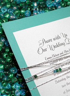 New Glam Wedding Invitations with Beads from Formal-Invitations.com 98¢ - Invitation Ideas - Invitation Ideas