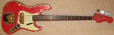 1962 Fender Jazz Bass - fiesta red finish