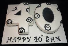 Number Cakes for Adults Number Birthday Cakes, Number Cakes, 50th Birthday Party, Special Birthday, 40th Cake, Happy 40th, Cake Stuff, Anniversary Ideas, Baking Ideas