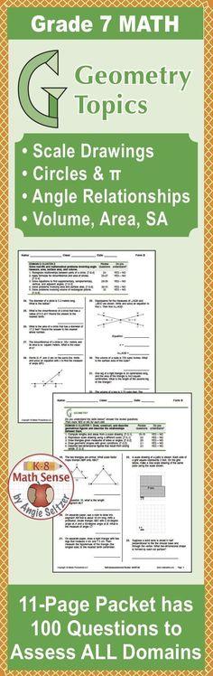 grade 7 geometry review pdf