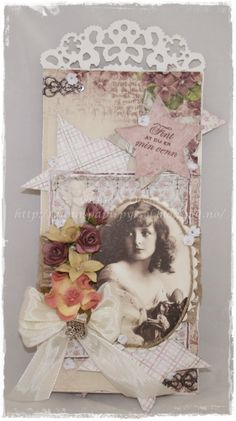 Gunns Papirpyssel Friend Birthday, bursdag, kort, card, scrapbooking, scrapping, Pion Design, paper, papir, vintage
