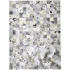 Cowhide Patchwork Rug 'The Snowy'