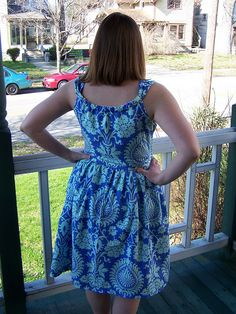 Sis Boom Jamie Dress, back view by Lindsay Sews