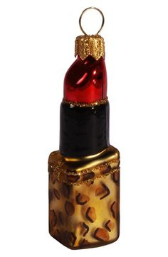 Nordstrom at Home Animal Print Lipstick Ornament available at #Nordstrom