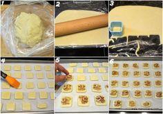 Galletas de queso gorgonzola y nueces