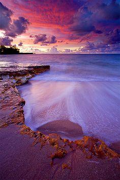 Nightcliff Beach lit up after sundown, Nightcliff, Darwin, Northern Territory