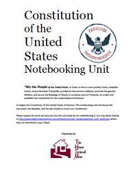 US Constitution Notebooking Unit | TheHomeSchoolMom.com