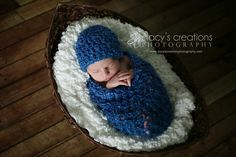 Baby Cocoon, Crochet Cocoon, Cocoon and Hat, Baby Cacoon, Boy Cocoon, Baby Pod, Newborn Cocoon, Infant Cocoon, Photo Prop Blue