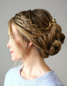 How to make Four Strand Braid Updo at home #Hairstyle #Hairstyletutorial #BraidUpdo