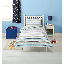 Little Home At John Lewis Traffic Flannelette Stripe Single Duvet Cover Ed Sheet And