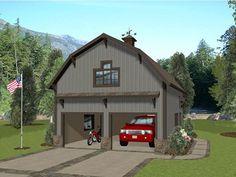Garage Apartment Plan, 007G-0023