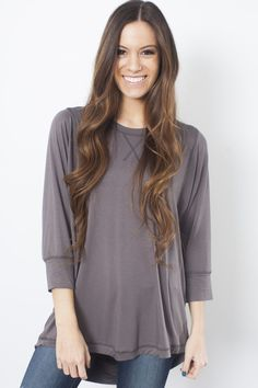 Pippa Top - Charcoal