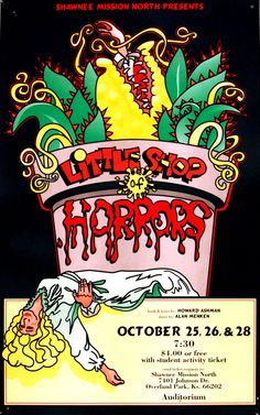 little shop of horrors theater poster poster design pinterest horror posters horror and. Black Bedroom Furniture Sets. Home Design Ideas