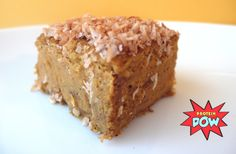 Pumpkin protein custard-cake : a delicious, low-fat/high protein recipe -- curious about this recipe even though I am slightly skeptical of cooking with protein powder. Nut Recipes, Healthy Dessert Recipes, Great Recipes, Cookie Recipes, Delicious Desserts, Snack Recipes, Favorite Recipes, Healthier Desserts, Healthy Breakfasts