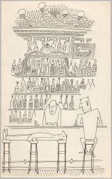 Saul Steinberg American, born Romania, 1914-1999, Untitled (Bar Scene)