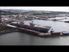 HMS Queen Elizabeth afloat at Rosyth